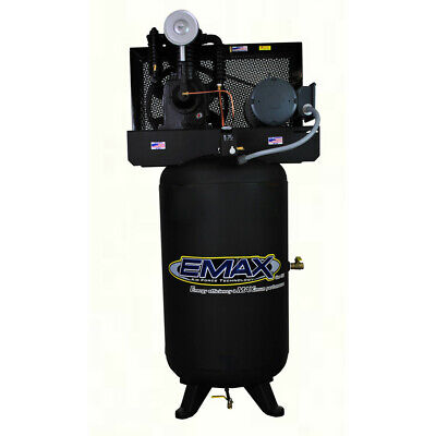 Emax 80 Gallon 5 Hp V4 2-stage 1-phase Vertical Air Compressor Ep05v080i1 New