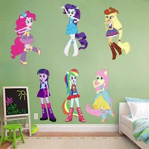 my little pony equestria girls decal removable wall. Black Bedroom Furniture Sets. Home Design Ideas