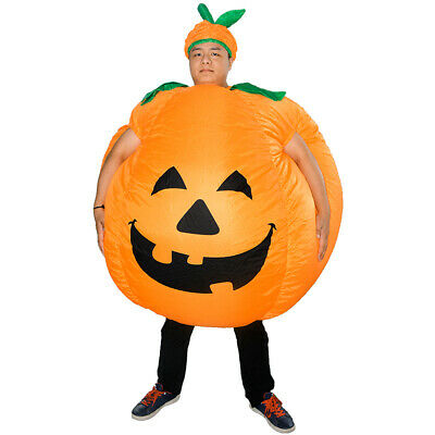 HOT Pumpkin Inflatable Costume Dress Adult Xmas Carnival Party Blow Up Suit M5N8
