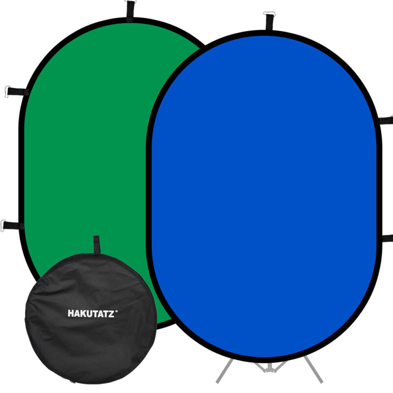 3x5ft Photo Collapsible Reversible Popup Green Blue Screen 2in1 Background Panel