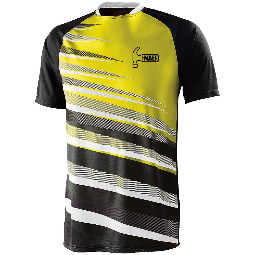 Hammer Men's Sauce Performance Jersey Bowling Shirt Dri-fit Yellow
