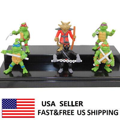 TMNT Teenage Mutant Ninja Turtles Action Figure Cake Topper Toys Kids Gift 6 PCS - Teenage Mutant Ninja Turtle Cake