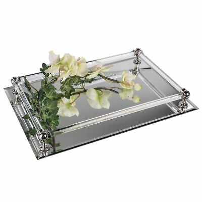 Formano Spiegeltablett Tablett Dekotablett 37 cm silber