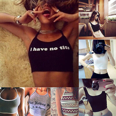 Women Sexy Summer Short Vest Tank Crop Top Skinny O-Neck Sports Dance T-Shirts 1