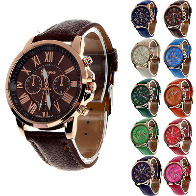 Women Classic Casual Watch Leather Analog Quartz Vogue Sport WristWatch