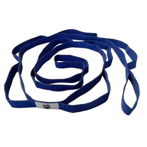 Great Cove 6.5 ft Yoga Stretching Strap for Physical Therapy with Loops - Blue