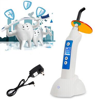 110v White Dental Wireless Led Curing Light 5w 700-1800mwcm Teeth Whitening Us