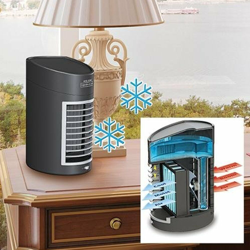 Portable Evaporative Air Cooler Fan Portable Home Office Sma