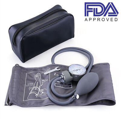Aneroid Sphygmomanometer Manual Blood Pressure Cuff Monitor Gauge Kit Parts Case