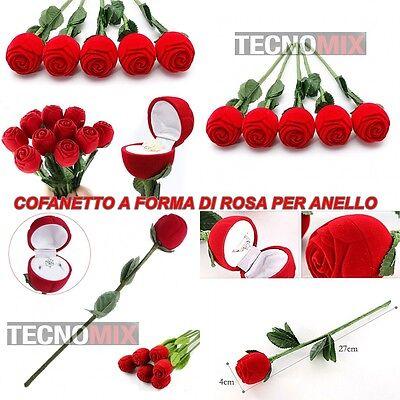 cofanetto Rosa Rossa finta contenitore scatola per regalo porta anello sposi ros