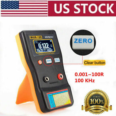 Mesr-100 V2 Esrlow Ohm In Circuit Test Capacitor Meter With Smd Clip Probe Usa