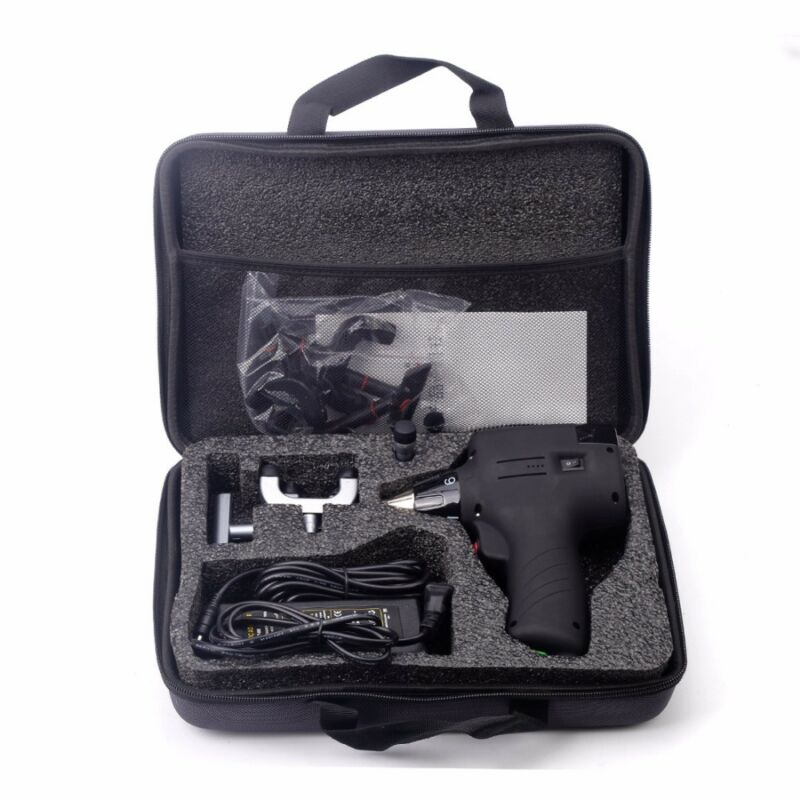 Chiropractic Adjusting Tool Electric Correction Gun Massager Spine 6Levels 3Head