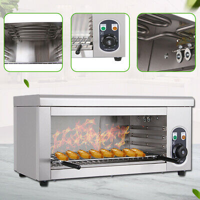 Electric Cheese Melter Salamander Broiler Bbq Countertop Melt Grill 50-300 C