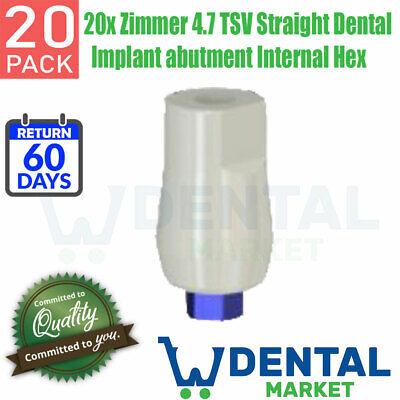 20x Zimmer 4.7 Tsv Straight Dental Implant Abutment Internal Hex
