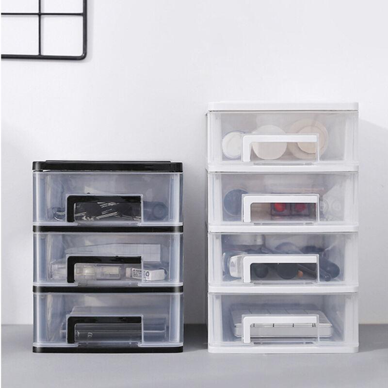 transparent storage box drawer type plastic cosmetics