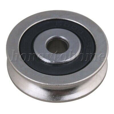U Groove Sealed Wire Track Guide Steel Pulley Ball Bearing Steel 355kg 6x30x8mm