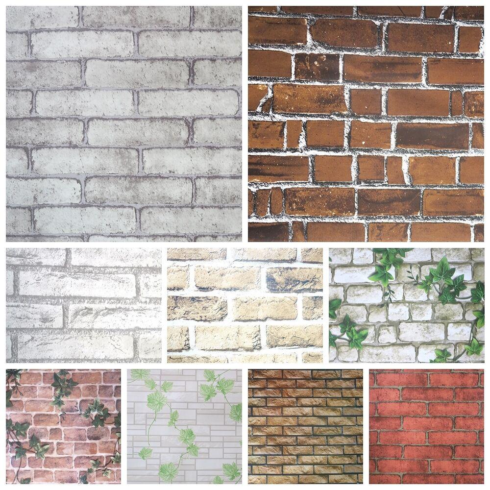 1m Brick Effect Tile Stickers Home Decor Kitchen Bathroom
