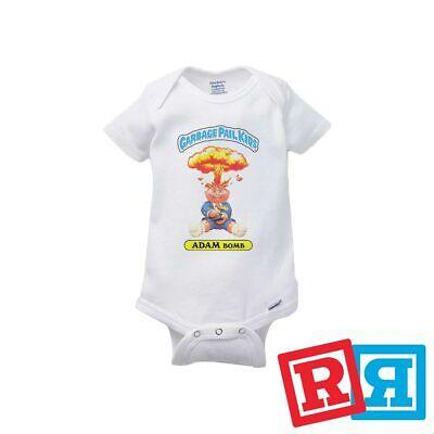 Garbage Pail Kids Baby Onesie Adam Bomb 80's Bodysuit Gerber Organic -