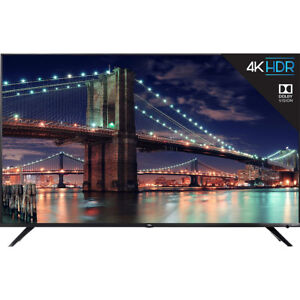 TCL 55-inch 4K UHD Dolby Vision HDR Roku Smart TV in Black 55R617