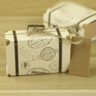 Packing With Rope Mini Party Candy Boxes Gift Boxes Trunk Shaped 3Pcs - Trunk Party Gifts
