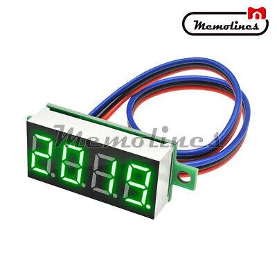 0.36 Mini Dc 0-100v 3-digital Display Green Led Voltage Voltmeter Panel Meter