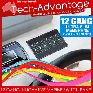 12V-12-GANG-LED-SWITCH-PANEL-WATERPROOF-SLIM-TOUCH-CONTROL-PANEL-BOAT-CARAVAN