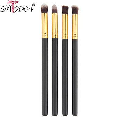 4pcs Pro Makeup Brushes Set Foundation Powder Eyeshadow Eyeliner Lip Brush Tool
