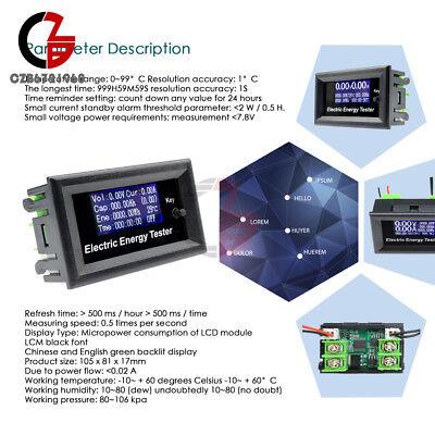 Lcd Digital Voltage Watt Current Power Meter 20a 120v 2.4kw Ammeter Voltmeter