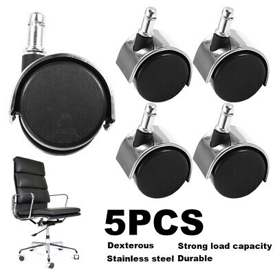 5pcs X Office Chair Premium Casters Wheel Wood Floor Home Furniture Replacement