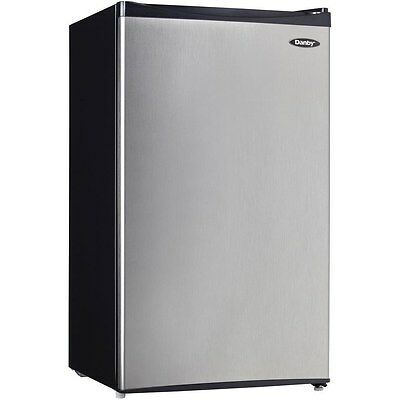 Stainless Steel Compact Fridge w/ Freezer, 3.3 Cu. Ft. Energy Star Refrigerator for sale  Cincinnati