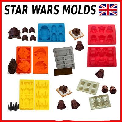 Star Wars Silikon Schokolade Backform Kuchenform R2-D2 Darth Vader Han Solo