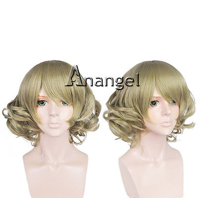 Final Fantasy XV Cindy Aurum Cosplay Wig Short Hair Child Halloween Party Wigs ](Finale Halloween Party)