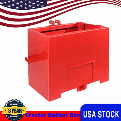 Tractor Counterweight Ballast Box 3 Point Loader Quick Tach Attachment For Cat 1