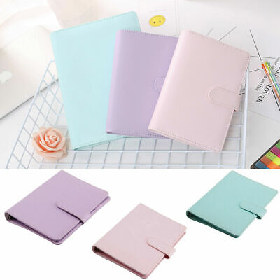 A5 A6 Leather Loose Leaf-ring Binder Notebook Macaron Agenda Planner Diary Gift