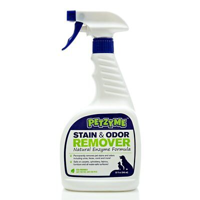 Enzyme Cleaner Urine - Petzyme Pet Stain Remover  Odor Eliminator, Enzyme Cleaner for Dogs, Cats Urine,