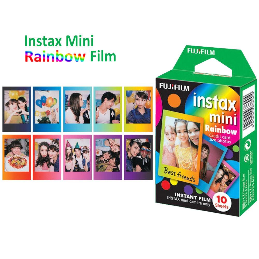 For Fujifilm Instax Mini 8 9 50 70 90 Camera Fuji Instant Color Film Photo Sheet