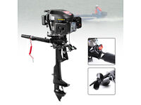 Four Stroke 6HP Gasoline Outboard Motor Fishing Boat Engine Air Cooling HANGKAI