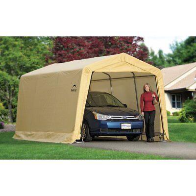 ShelterLogic AutoShelter 10 x 15 x 8 ft. Instant Garage, Tan, 10x15