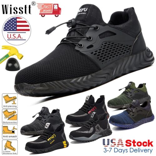 Men's ESD Work Safety Shoes Steel Toe Boots Indestructible H