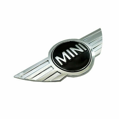 MINI CAR FRONT BONNET - 3D CHROME REPLACEMENT BADGE - ONE - WORKS - COOPER - UK