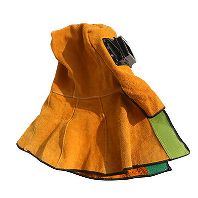 Heat Insulation Protection Face Eyes Welding Leather Mask Helmets Hooded Shawl