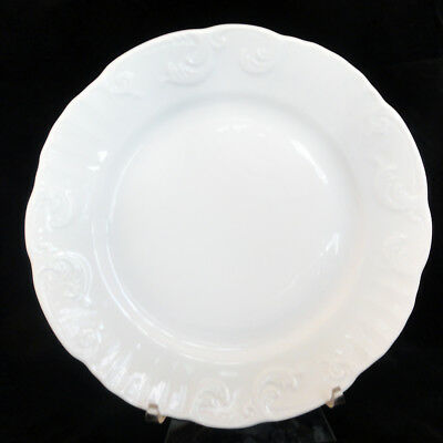 """MANUELINE WHITE by Vista Alegre Salad Plate 8"""" NEW NEVER USED made in Portugal"""