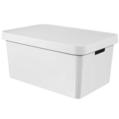 Kunststoff-behälter Mit Deckel (Aufbewahrungsbox mit Deckel Infinity 56 x 39 x 27 cm weiß CURVER)