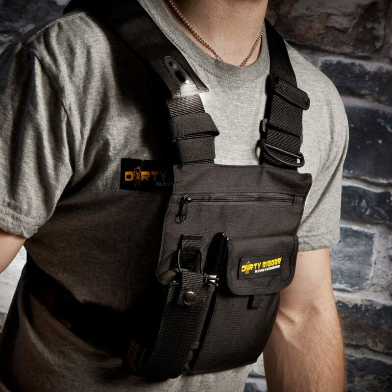 Dirty Rigger Chest Rig Radio Vest Harness LED Stage Studio Church