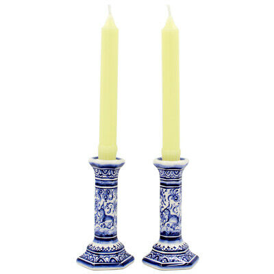Coimbra Ceramics Hand-painted Decorative Candle Holder XVII Cent Recreation