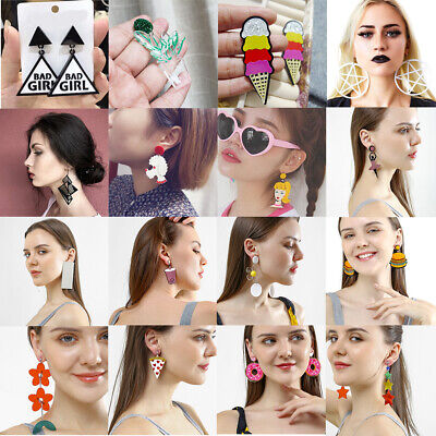 Fashion Women Earring Acrylic Geometric Resin Drop Dangle Stud Earrings Jewelry