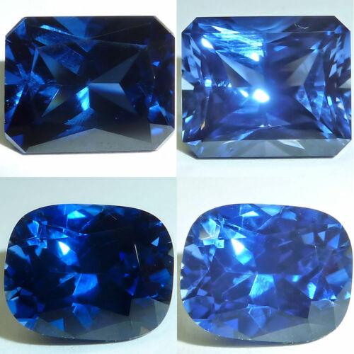 Lab Created Sapphire Blue Emerald,Cushion Cut Faceted Loose Gems Fine Cut AAA