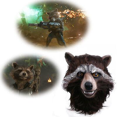 2017 Guardians Of The Galaxy Vol.2 Mask Cosplay Rocket Raccoon Mask Halloween  - Halloween 2 Mask 2017