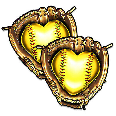 Softball Sticker / Decal Set - Softball Love Decal / Sticker set
