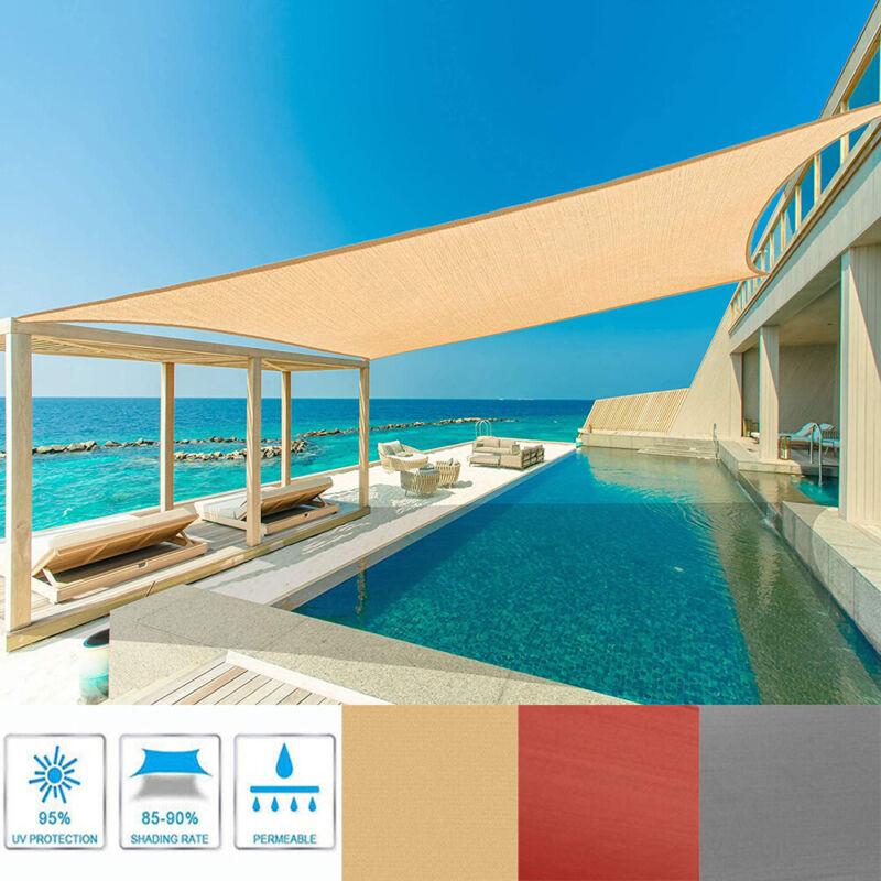 Sun Shade Sail Canopy Rectangle Sand UV Block Sunshade For Backyard Deck Outdoor